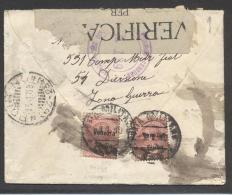 """5154-LETTERA AFFRANCATA 2x10C. LEONI SOPR. """"Venezia Giulia""""-P.M. 139-2-01-1919 - Occupation 1ère Guerre Mondiale"""