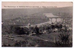 33 - Gironde / PORTETS -- Vue Panoramique De SAINTE-FOY-LA-GRANDE Et PORT-SAINTE-FOY. - France