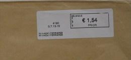 België 2013 PP Proxy Ferrieres 4190 - Logo Bpost (fragment 114 X 228 Mm) - Automatenmarken (ATM)