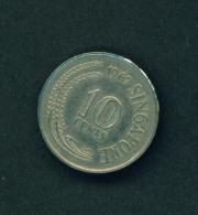 SINGAPORE -  1967 10c Circ. - Singapore