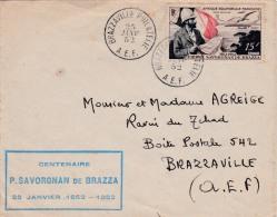 00356 Carta De Africa Ecuatorial Francesa Brazzaville 1952 - Cartas