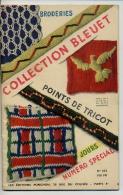 Collection BLEUET 1949 / 32 Pages ALBUM De  POINTS BRODERIES MOTIFS Enfants FLEURS Ecossais Ameublement - Patrons