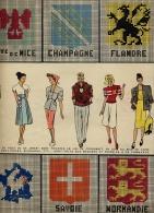 Collection BLEUET 1949 / Revue MODE CREATION BRODERIES BLASONS PROVINCES RAYURES CROCHET - Patrons