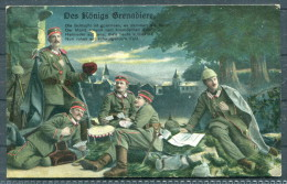 "1.Weltkrieg Patriotik ""Des Königs Grenadiere"" Belgien Stempel Hagen Erhaltung! - Patriotic"