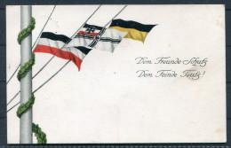 1915 1.Weltkrieg Patriotik Flaggen Deutsches Reich Reichskriegsflagge Österreich Selt - Patriotic