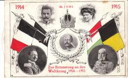 Zur Erinnerung An Den I.Weltkrieg, 1914 - 1915 Am 28. Juni, Karte Mit Drehscheibe - Weltkrieg 1914-18