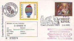 1103i: Österreich 1991, Weihnachts- Ballonpost - Noël
