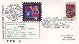 1103j: Österreich 1980, Weihnachts- Ballonpost - Noël