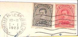 Marcophilie-S.M.le Roi Albert 1er-3c Type De 1915-10c- COB N°138-183- Sur CPA- Oblitération Bruxelles-1923- (voir Scan) - 1915-1920 Albert I
