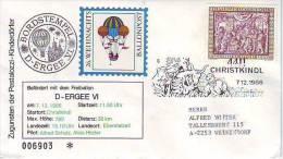 1103t: Österreich 1986, Weihnachts- Ballonpost - Par Ballon