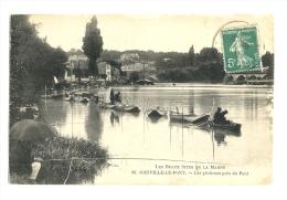 Cp, 94, Joinville-le-Pont, Les Pêcheurs Près Du Pont, Voyagée 1915 - Joinville Le Pont