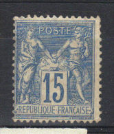 France N° 101* Sans Gomme (1884) - 1876-1898 Sage (Type II)