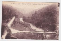 (RECTO / VERSO) DUN LES PLACES EN 1934 - N° 258 - LA CURE - ROUTE DE ST BRISSON AVEC PONT - France