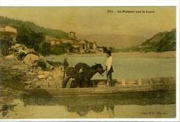 Carte Postale Ancienne Velay - Le Passeur Sur La Loire - Bac, Ane - France