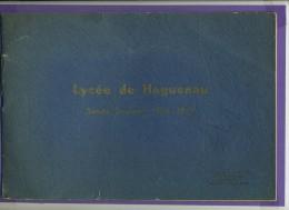 Livre - Portfolio - Lycée De Haguenau Année Scolaire 1936-1937 + 1 Photo De Classe Plus Récente - Alsace