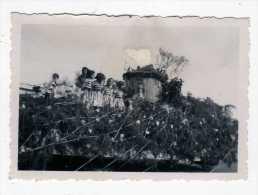 PHOTO ARGENTIQUE CORSO FLEURI CARNAVAL PONT PAYSAGE Papier Photo VELOX ETAT Abimée - Altri