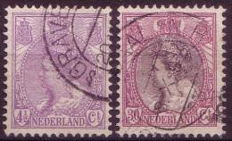 Niederlande Nr.93/4         O Used       (010) - 1891-1948 (Wilhelmine)