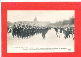 75 PARIS Cpa Animée Defilés Fusillers Marins De Lorient Et Rochefort         Edit ELD - Sets And Collections