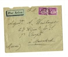PARIS – Bureau N°38  « R. Claude BERNARD »LSI En F.M.  – Tarif P.A. « Militaire En Garniso - Poste Aérienne
