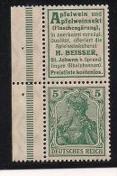 D.Reich Zusammendruck S 1-18, Gepr. Jäschke - Neufs