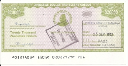 ZIMBABWE  20000 DOLLARS 2003 XF+ P 18 - Zimbabwe