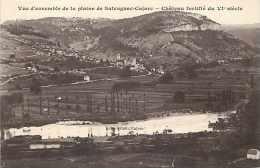 Lot -ref 194-vue D Ensemble De La Plaine De Salvagnac Cajarc -chateau Fortifié Du 6eme Siecle  -carte Bon Etat  - - France
