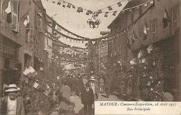 MATOUR - Concours Exposition ,du 28 Aout 1927 - Rue  Principale - France