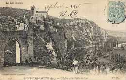 Lot -ref 129-saint Cirq Lapopie - St Cirq Lapopie - L Eglise Et La Vallee Du Lot  -carte Bon Etat - - France