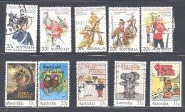 AUSTRALIA, 1985 Uniforms + 1985 Childrens Books Sets Fine Used - 1980-89 Elizabeth II