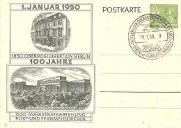 Bln105c/ 100 Jahre OPD Berlin Mit Sonderstempel, 1.1.1950 - Postkarten - Gebraucht