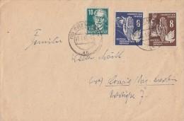 DDR Brief Mif Minr.276,277  SBZ Minr.215 Chemnitz 7.1.51 - Briefe U. Dokumente