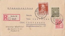 Gemeina. R-Brief Mif Minr.928,953,963 Berlin 1.4.48 - Gemeinschaftsausgaben