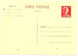 LBL17/3 - FRANCE EP CP MÜLLER 15f NEUVE - Postal Stamped Stationery