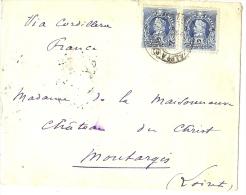 LBL17/3 - CHILI  LETTRE  A DESTINATION DE MONTARGIS FEVRIER 1903 VIA CORDILLERA - Chili