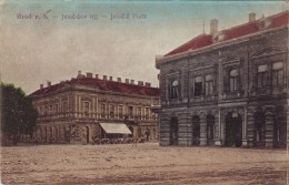#0799 Croatia, Brod N.S. Postcard Mailed 1918: Jelacic Square - Croatie