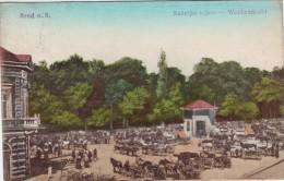 #0800 Croatia, Brod N.S, Postcard Mailed 1915: Weekly Market, Animated - Croatie