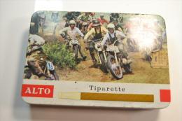 Ancienne Boite A Cigares Vide ALOT Tiparette Moto / Motards - Contenitore Di Sigari