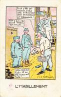 Humour Militaire - Illustrateur J.P. Godrene - L´HABILLEMENT (petite Tache ) - Humour