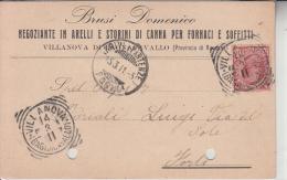 PUBBLICITA´ ADVERTISING REKLAM WERBUNG-BRUSI DOMENICO NEGOZIANTE IN ARELLI E STORINI DI CANNA..VILLANOVA.VG X FORLI'1911 - Pubblicitari