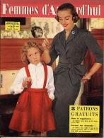 Femmes D'Aujourd'hui 1956 N° 560 26 Janvier Centre National Transfusion Sanguine Moulin Vert Jean Marais Georges Auric B - Livres, BD, Revues
