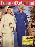 Femmes D'Aujourd'hui 1956 N° 562 9 Février Robes Communiantes Mariage Extrême-Orient Plumasserie Marcel Fort Ypres Fête - Livres, BD, Revues