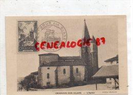 87 - ORADOUR SUR GLANE - L' EGLISE - CACHET 1945  PHOTO FRANCOIS - Oradour Sur Glane
