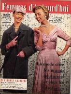 Femmes D'Aujourd'hui 1956 N° 566 8 Mars Chapeaux Seznec Organisatrice Congrès Louise-Marie Belgique Rodolphe Filles Char - Livres, BD, Revues