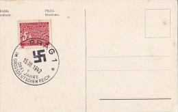CZE80  --  PRAG  --  SONDERSTEMPEL  DREI JAHRE GROSSDEUTSCHEN REICH 1942  --  MIT SVASTIKA - Czech Republic