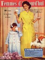 Femmes D'Aujourd'hui 1956 N° 573 26 Avril Marie André Soucoupes Volantes Batelier Hervé François Deguelt Santa Cruz Téné - Livres, BD, Revues