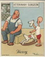 J Wix (Kensitas) Cigarette Card - Henry Series 4,  Henry And The Vet. Artist Carl Anderson - Cigarette Cards