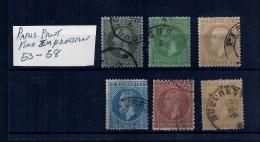 ROMANIA 53-58 PARIS PRINT -FINE IMPRESSION - 1858-1880 Moldavia & Principality