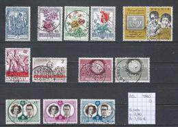 1960 - 6 Sets Gest./obl./used - Belgium