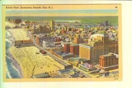 USA - NEW JERSEY - ATLANTIC CITY, Aerial View, 1949, Tichnor - Atlantic City
