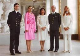 Queen Silvia And Family Of Sweden   (  Rood 663 - Familles Royales